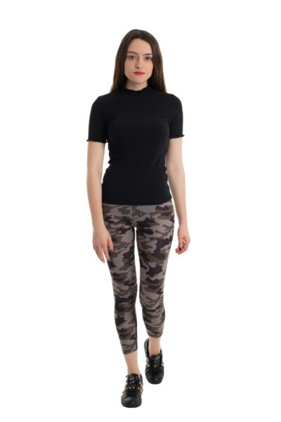 pantalon dama leggings military print manola