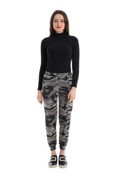 pantaloni dama leggings military print deea