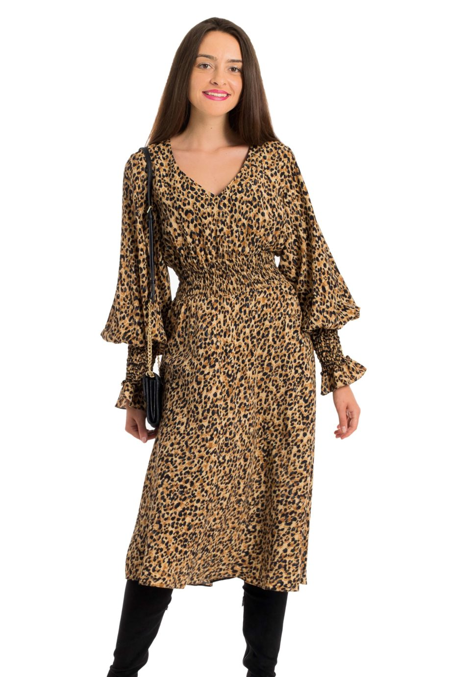 rochie midi animal print courtney
